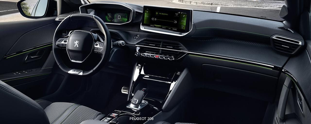 Peugeot 208 interiér, dlhodobý prenájom, Avis Maxirent